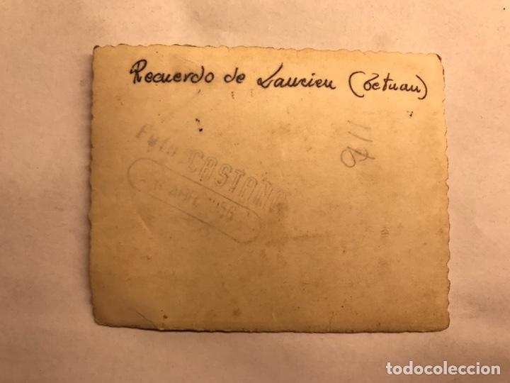 Militaria: MILITAR. Campamento de Laucien. TETUÁN. Fotografía Cetme en mano (a.1956) - Foto 2 - 155700053