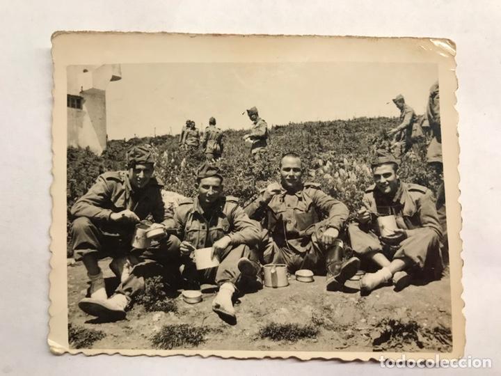 MILITAR. FOTOGRAFÍA ORIGINAL. SOLDADOS DE ZAFARRANCHO... (H.1940?) (Militar - Fotografía Militar - Otros)
