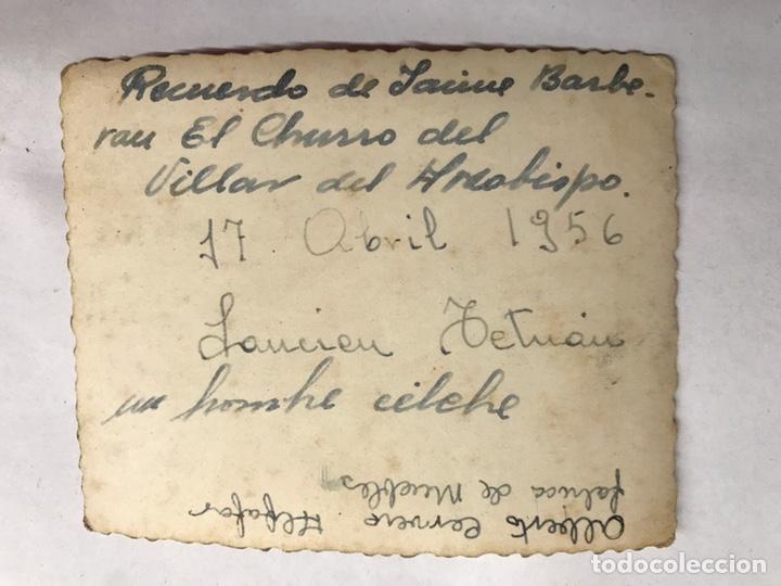 Militaria: MILITAR. Campamento de Laucien. TETUÁN. Fotografía Grupo Regimiento. Recuerdo de Jaime (a.1946) - Foto 2 - 155704605