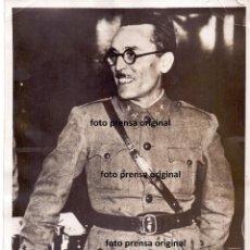 Militaria: FOTO PRENSA GENERAL SEGISMUNDO CASADO REPUBLICA FRENTE POPULAR GUERRA CIVIL. Lote 155736546