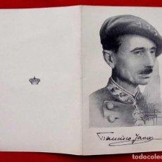Militaria: TARJETA DE SAR EL PRINCIPE FRANCISCO JAVIER DE BORBÓN PARMA. AÑO: 1959.CARLISMO. CARLISTA. REQUETÉ. . Lote 155810066