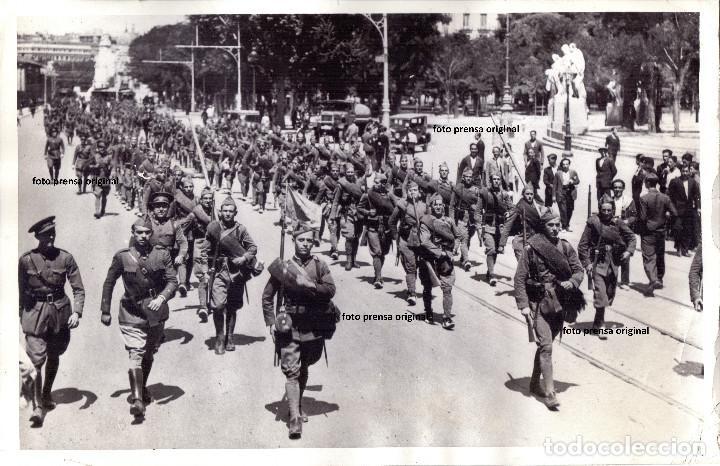 FUERZAS REPUBLICANAS GUARDANDO SEVILLA DIA DESPUES ALZAMIENTO NACIONAL GUERRA CIVIL (Militar - Fotografía Militar - Guerra Civil Española)
