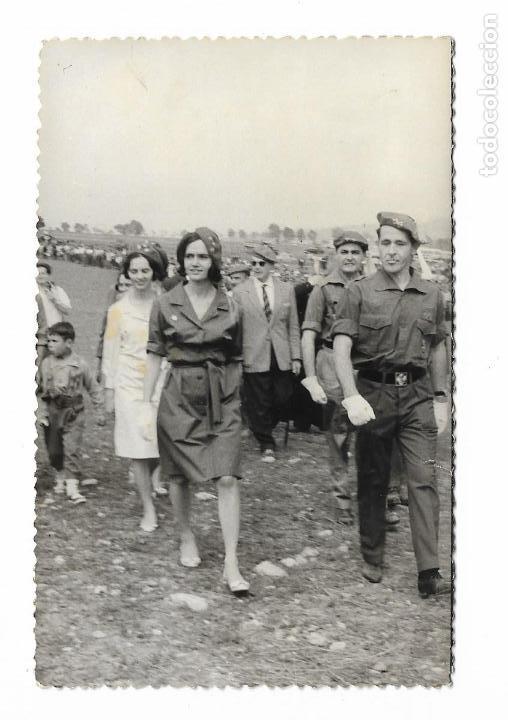 ANTIGUA FOTOGRAFIA MONTEJURRA -MILITARES PRINCESA CARLISTA - CARLISMO REQUETE - 14X9CM (Militar - Fotografía Militar - Otros)
