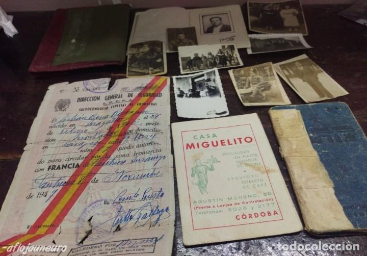 LOTE DOCUMENTOS (Militar - Fotografía Militar - Guerra Civil Española)