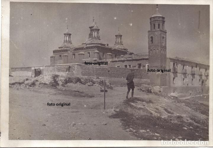 SANTUARIO DE LA VIRGEN DE PUEYO BELCHITE(ZARAGOZA) MARZO 1938 LEGION CONDOR GUERRA CIVIL (Militar - Fotografía Militar - Guerra Civil Española)