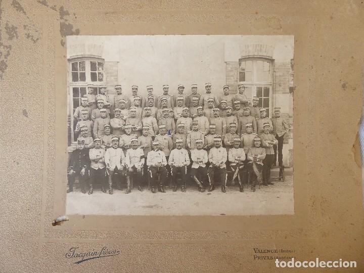 FG-454. FOTOGRAFIA 7º REGIMIENTO DE CAZADORES EN VALENCE (FRANCIA).PRINCIPIO I GUERRA MUNDIAL.1914. (Militar - Fotografía Militar - I Guerra Mundial)