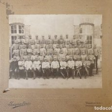 Militaria: FG-454. FOTOGRAFIA 7º REGIMIENTO DE CAZADORES EN VALENCE (FRANCIA).PRINCIPIO I GUERRA MUNDIAL.1914.. Lote 156733370