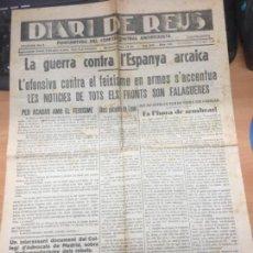 Militaria: REVISTA REPUBLICANA DIARI DE REUS PORTAVEU COMITE CENTRAL ANTIFEIXISTA 2-10-36. Lote 156865054