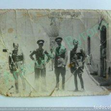Militaria: FOTOGRAFÍA ANTIGUA ORIGINAL. OFICIALES (13,5 X 8,5 CM). Lote 157688174
