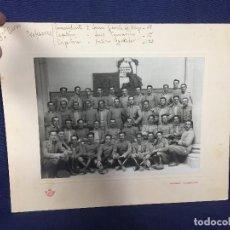Militaria: FOTOGRAFIA MILITAR ACADEMIA INFANTERIA TOLEDO 3 CURSO PPIO S XX PROFESORES ALFONSO XIII 24,5X30,5CMS. Lote 157700474