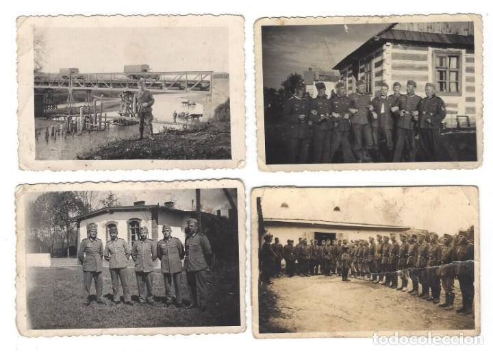 GEBIRSJAGER DE LA WEHRMACHT. 4 FOTOS DEL MISMO SOLDADO (Militar - Fotografía Militar - II Guerra Mundial)