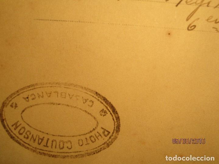 Militaria: ANTIGUA tarjeta POSTAL manuscrita MILITAR 1º REGIMIENTO CASABLANCA colonia france sello COUATSON - Foto 4 - 157799590