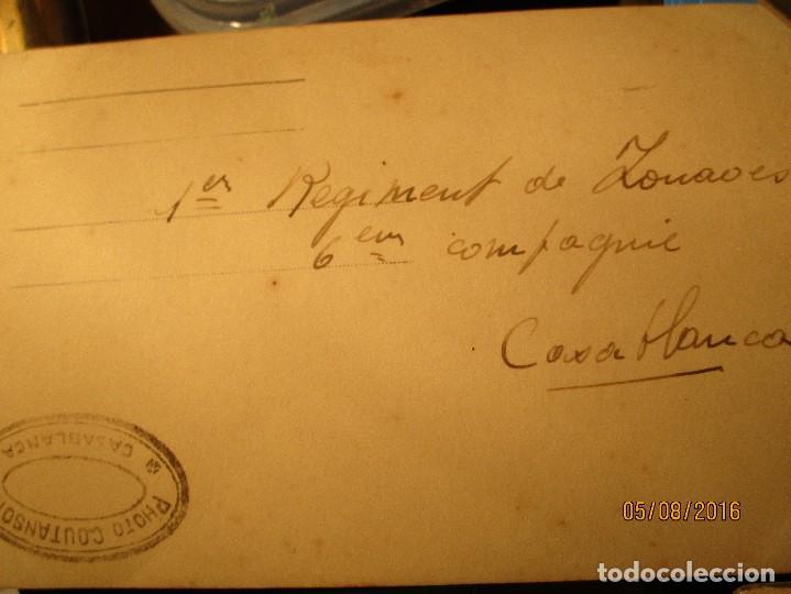 Militaria: ANTIGUA tarjeta POSTAL manuscrita MILITAR 1º REGIMIENTO CASABLANCA colonia france sello COUATSON - Foto 6 - 157799590