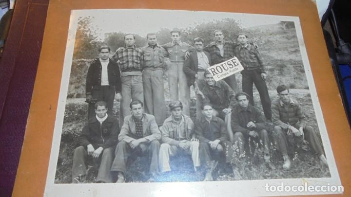 GUERRILLEROS MAQUIS - ANTIGUA FOTOGRAFIA ORIGINAL MONTADA SOBRE CARTULINA EL SEÑOR DE LA GORRA SE (Militar - Fotografía Militar - Guerra Civil Española)
