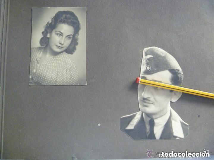 DIVISION AZUL - AVIACION : FOTO DE SUBOFICIAL DE LA ESCUADRILLA AZUL Y ESPOSA + REGALO (Militar - Fotografía Militar - II Guerra Mundial)