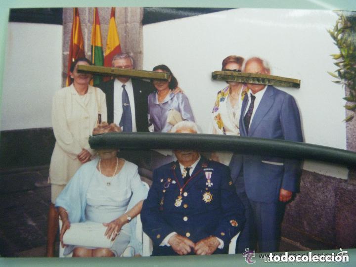 Militaria: DIVISION AZUL - AVIACION : FOTO DE SUBOFICIAL DE LA ESCUADRILLA AZUL Y ESPOSA + REGALO - Foto 2 - 158185330