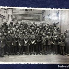 Militaria: GENERALES CORONELES ALTOS MANDOS VETERANOS ACADEMIA TOLEDO ALCAZAR FOTO RODRIGUEZ TOLEDO 11,5X17,5CM. Lote 158316994