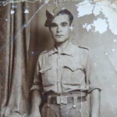 Militaria: FOTOGRAFÍA SOLDADO INGENIEROS DEL EJÉRCITO ESPAÑOL. SEVILLA 1939. Lote 158861050