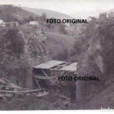 Militaria: PUENTE DESTROZADO FRENTE NORTE CERCANIAS SANTANDER 1937 GUERRA CIVIL. Lote 159027914