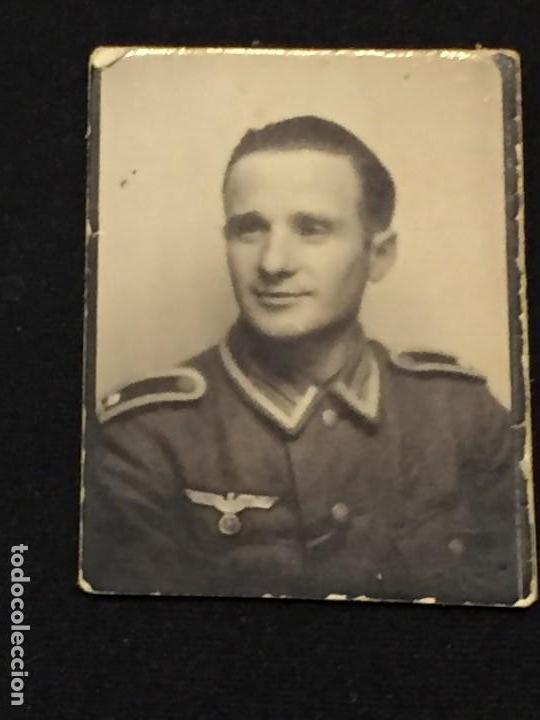Militaria: FOTO SUBOFICIAL ALEMAN WEHRMACHT 50X38MM ORIGINAL - Foto 2 - 159143422
