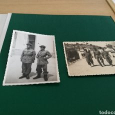 Militaria: DOS FOTOGRAFÍAS MILITARES ANTIGUAS. Lote 159183240
