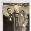Militaria: WINSTON CHURCHILL Y SIR CHARLES FREDERIC KEIGHTLEY. EN SU VISITA OFICIAL A GIBRALTAR (MARZO DE 1961). Lote 159905405