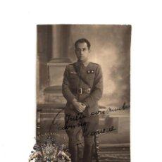 Militaria: FOTOGRAFÍA TENIENTE AVIACIÓN. FOTO YSA.(ZARAGOZA). 7,5 X 12,5 CM. Lote 160161094