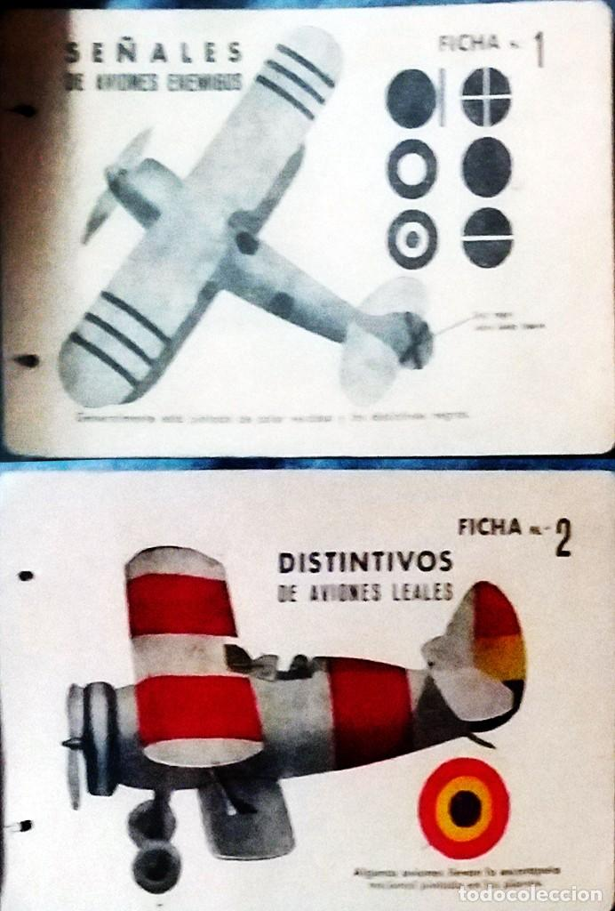 Militaria: LOTE CON 15 FICHAS DE AVIONES DE GUERRA ENEMIGO Y SUS CARACTERISTICA PARA SU IDENTIFICACION 13 X 8,5 - Foto 2 - 160397682