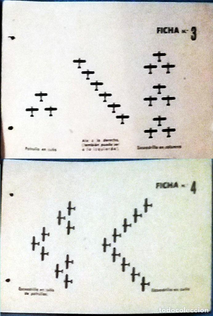 Militaria: LOTE CON 15 FICHAS DE AVIONES DE GUERRA ENEMIGO Y SUS CARACTERISTICA PARA SU IDENTIFICACION 13 X 8,5 - Foto 3 - 160397682