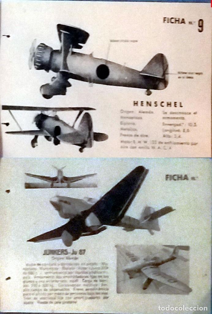 Militaria: LOTE CON 15 FICHAS DE AVIONES DE GUERRA ENEMIGO Y SUS CARACTERISTICA PARA SU IDENTIFICACION 13 X 8,5 - Foto 7 - 160397682
