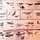 Militaria: LOTE CON 18 FICHAS DE AVIONES DE GUERRA ENEMIGO Y SUS CARACTERISTICA PARA SU IDENTIFICACION 13 X 8,5. Lote 160506834