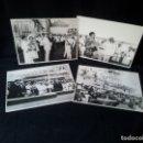 Militaria: 4 FOTOGRAFIAS OFICIALES DEL GENERAL FRANCISCO FRANCO - LANZAMIENTO DEL BUQUE BALEARES. Lote 160508926