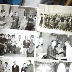 Militaria: LOTE 6 FOTOS CELEBRACION ENTRGA PREMIOS ACADEMIA ONESIMO REDONDO MANDOS Y JOVENES FALANGE. Lote 160603174