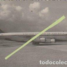 Militaria: FOTOGRAFIA AEROPUERTO DE LAS PALMAS? AVION DE ESTADOS UNIDOS DE AMERICA CUARTEL DE GANDO? -C-36. Lote 160837882