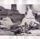 Militaria: FOTO PRENSA REVUELTA ANARQUISTA MAYO 1936 QUEMA IGLESIAS, LIBROS,ETC GUERRA CIVIL. Lote 160839818