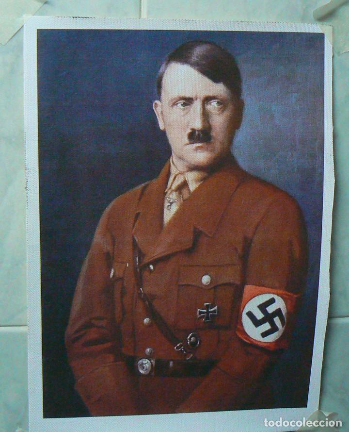 ADOLF HITLER . TERCER REICH.CUADRO EN LIENZO IMPRESO. (Militar - Fotografía Militar - II Guerra Mundial)