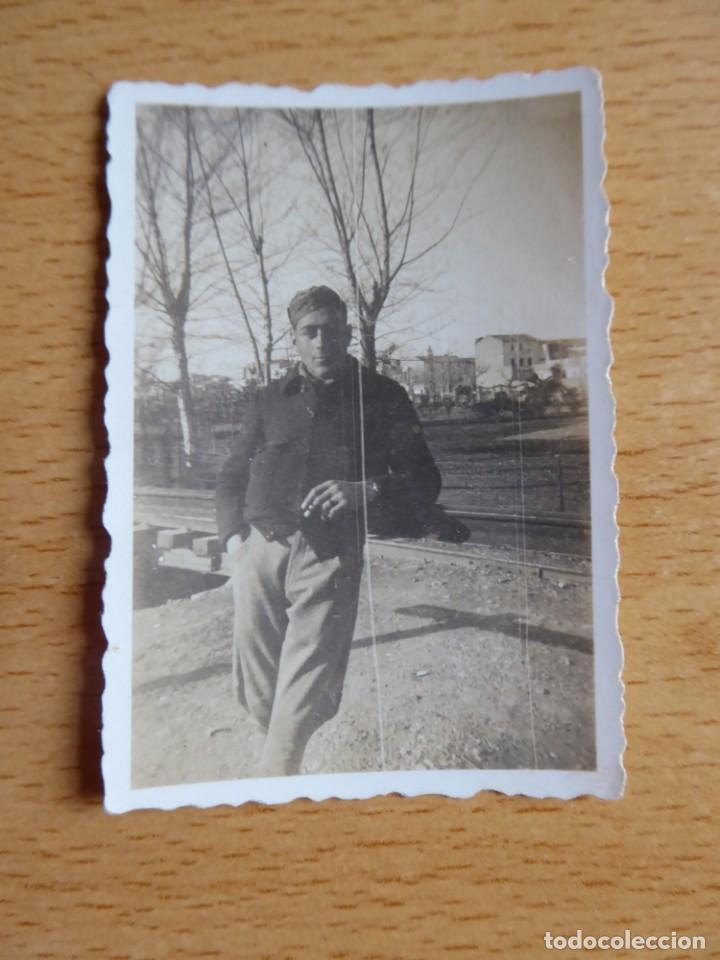 Militaria: Fotografía soldado del Ejército Popular de la República. Valencia 1937 - Foto 2 - 161016074