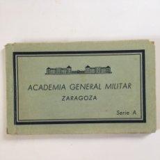Militaria: ANTIGUO BLOC DE POSTALES ANTIGUAS - ACADEMIA GENERAL MILITAR ZARAGOZA - 21 FOTOS. Lote 161160601