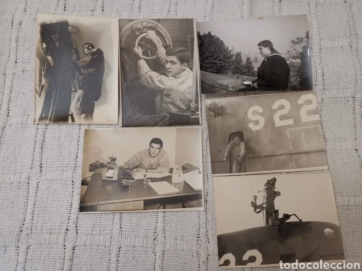 LOTE 6 FOTOS(AÑOS 60)MARINERO SUBMARINO S-22 ARMADA ESPAÑOLA (Militar - Fotografía Militar - Otros)