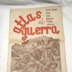 Militaria: ATLAS DE GUERRA AÑO 1944, MAPAS DE LOS FRENTE DE LA 2ª GUERRA MUNDIAL, OESTE EUROPA, RUSIA, ETC.... Lote 161254718