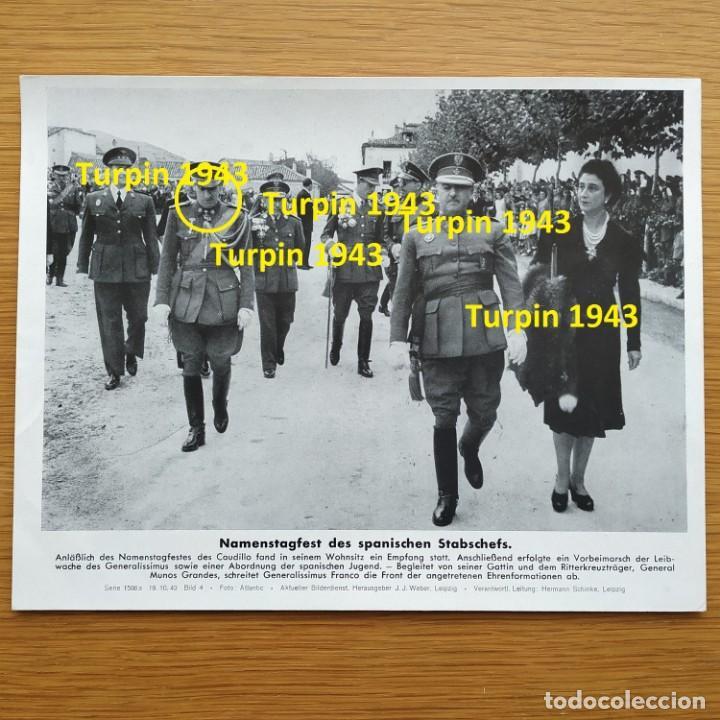 FOTOGRAFIA - GENERAL MUÑOZ GRANDES Y FRANCO DIVISION AZUL PROPAGANDA ALEMANA SEGUNDA GUERRA MUNDIAL (Militar - Fotografía Militar - II Guerra Mundial)