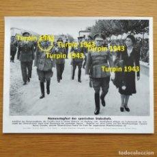Militaria: FOTOGRAFIA - GENERAL MUÑOZ GRANDES Y FRANCO DIVISION AZUL PROPAGANDA ALEMANA SEGUNDA GUERRA MUNDIAL. Lote 161257286