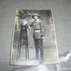 Militaria: FOTO TAMAÑO POSTAL GUERRA AFRICA SOLDADO INGENIEROS CON ANGULOS . Lote 161435814