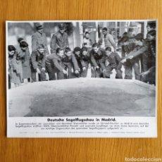 Militaria: FOTOGRAFIA - JOVENES DEL NSFK EN MADRID - PROPAGANDA ALEMANA SEGUNDA GUERRA MUNDIAL. Lote 161483234