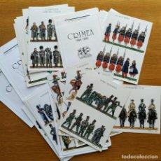 Militaria: 21 LAMINAS RECORTABLES - GUERRA CRIMEA 1854 - 1856 COMPLETA!! -DIONISIO A.CUETO MILITARES UNIFORMES. Lote 162372538