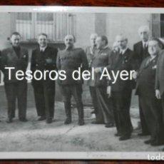 Militaria: FOTOGRAFIA DEL CONSEJO DE MINISTROS EN EL FRENTE DE ARAGON, GUERRA CIVIL, FOTO CAMPUA, MIDE 18 X 13 . Lote 162664910
