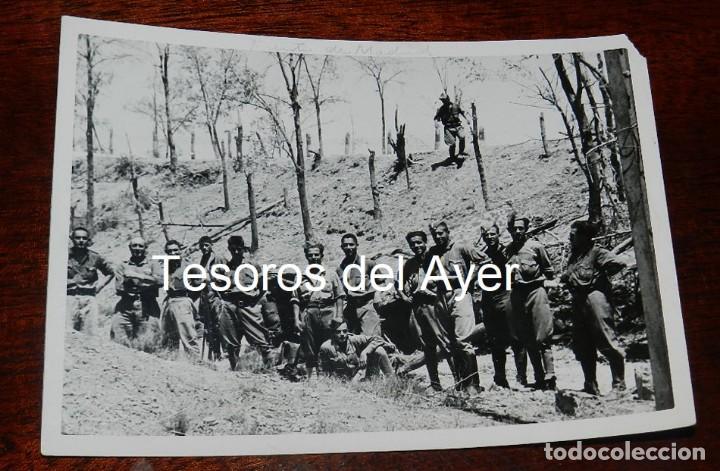 FOTOGRAFIA DE CAMPUA, EJERCITO NACIONAL EN EL FRENTE DE MADRID, PLENA GUERRA CIVIL, MIDE 18 X 13 CMS (Militar - Fotografía Militar - Guerra Civil Española)