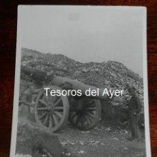Militaria: FOTOGRAFIA CAMPUA, CAÑON DEL EJERCITO ROJO, PLENA GUERRA CIVIL, MIDE 18 X 12 CMS.. Lote 162703014