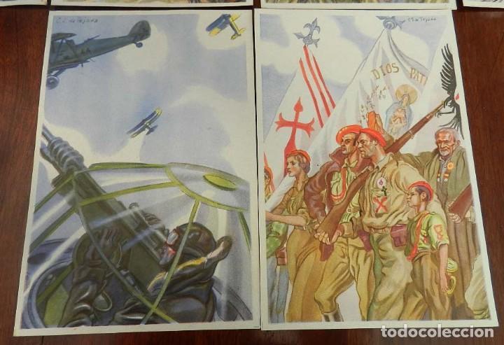 Militaria: COLECCION COMPLETA DE 10 POSTALES ARTIFICES DE LA VICTORIA DE C.S. DE TEJADA, GUERRA CIVIL. - Foto 4 - 162818666