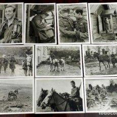 Militaria: 10 POSTALES DE LA DIVISION AZUL EN RUSIA, SON DE COLOR MARRON CLARO, TAMAÑO 10 X 14,8 CM.. Lote 163020646